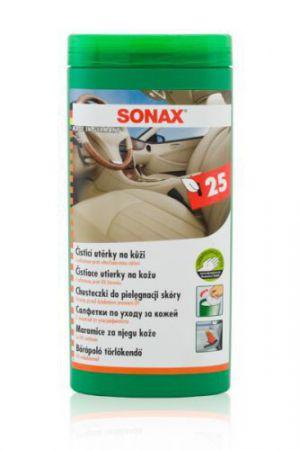 SONAX ściereczki do pielęgnacji skóry - opakowanie 25 sztuk