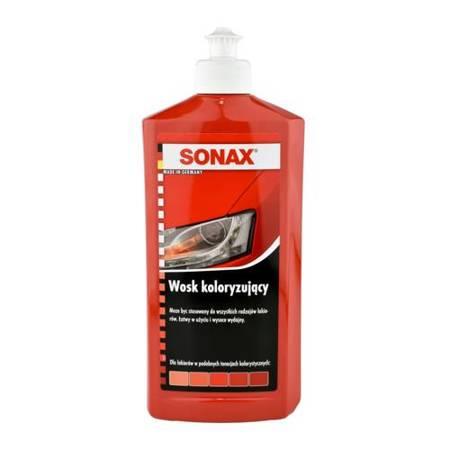 SONAX wosk koloryzujący nano czerwony  500ml